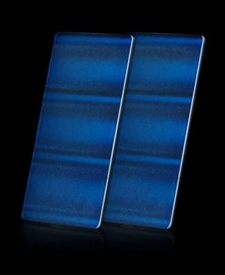 Kit 2 Panneaux 3D Vague Bleue